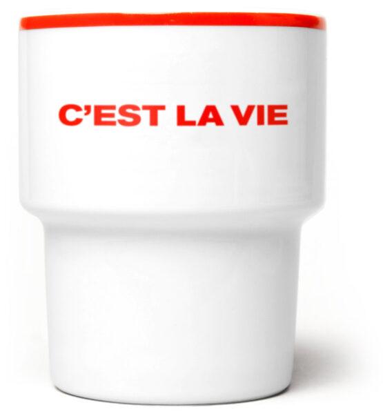 c'est_la_vie_kubek_czerwony